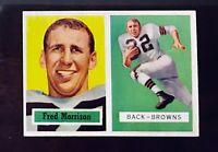 1957 Topps Football #154 Fred Morrison NM