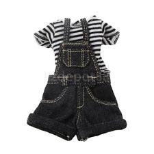 Black Stripe T-Shirt Jeans Jumpsuit Clothing For Kurhn Neo Blythe 1/6 Dolls