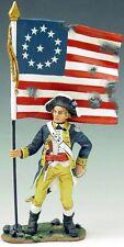 King & Country American Revolution Ar035 1St New York Regiment Flag Bearer Mib