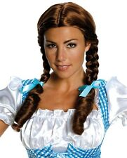 Deluxe Dorothy Wig Adult Wizard of Oz Brown Braided Pigtails - Salon Quality -