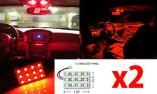 2x T10 & Festoon Universal 12 SMD Plasma Red LED Panel Interior Dome Map Light