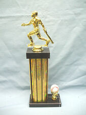 baseball trophy gold award ball trim black marble