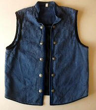 Ladies waistcoat Approx Size 16? Blue floral with black insert braid & tapes WW2