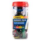 "6 Piece Flat Bungee Cord Pack Bundle 15"" 25"" 35"" 45"" Strap Kit CargoLoc 32403"