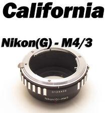 Nikon G AF-S Lens to M4/3 Adapter Panasonic GF5 GF6 GX1 GX2 GX7 GM1 GH4 G10 G3