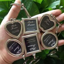 Alloy Metal Photo Insert Keychain Picture Frame Keyring