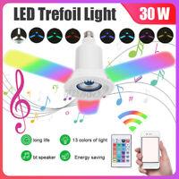 E27 RGB bluetooth Music Speaker LED Garage Light Deformable Ceiling Lamp Remot