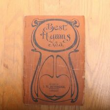 Best Hymns No. 3 1903 Evangelical Publishing Company Song Book Hardback Vintage