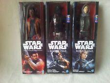 """3 X Star Wars 12"""" Figs. Finn, Death Trooper, Jyn Erso. New-Read. FREE SIGN POST"""