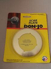 "Don Jo Scar Plate Polished Brass SP-135-605 Changes 2 3/8"" to 2 ¾"" Backset New"