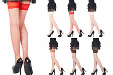 Sexy Lace Top Whale Net Hold Ups - 6 Various Colours ,Sizes S ,M , L, XL