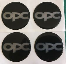 VAUXHALL OPEL OPC ALLOY WHEEL CENTRE DOMED STICKERS X4 CORSA ASTRA INSIGNIA 45mm