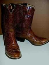 FAB! CUSTOM Handmade BROWN Exotic SNAKE & Leather COWBOY BOOTS Mens 8 Ken Scholz