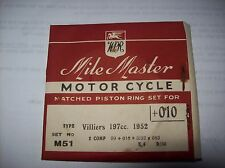 VILLIERS 5E 6E 7E 8E 197cc PISTON RINGS +10 oversize