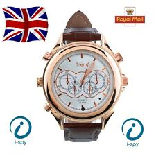 HD Orologio da polso impermeabile DV Spy Camera nascosta Video Digitale Camcorder 8GB MP3