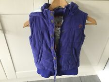Fat Face Kids Hooded Padded Gilet / Bodywarmer Size 10-11 Years. Good Condition.