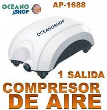 COMPRESOR de AIRE 1,6 l/min ACUARIO 1 SALIDA OXIGENADOR AIREADOR BAJO CONSUMO