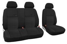 Autositzbezug im Design TRENDLINE passend für VW T5 mit schwarzer Lamelle