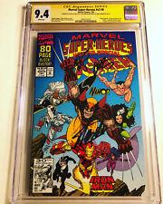 CGC 9.4 SS Marvel Super-Heroes v2 #8 signed Lee Starlin Larsen not 9.8