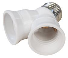 E27 Y-Adapter 1* Sockel auf 2x E27 Fassung Glühlampe LED Lampe Erweiterung Birne