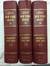 Lot Of 3 Abbott New York Digest 2d Descriptive Word Index A-E,F-O,P-Z