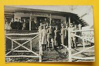 Foto AK Soldatenheim Soldaten Offiziere 1914-18 wohl Osten Gebäude 1.WK WWI