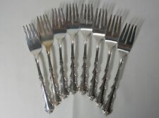 International Silver Angelique Sterling Set of 8 Salad Forks