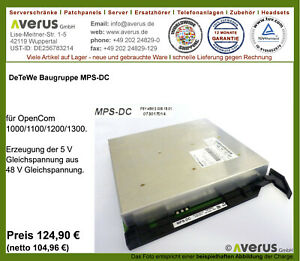 Aastra/DeTeWe MPS-DC für OpenCom 1000/1100/1200/1300 / Rg. incl. MwSt.