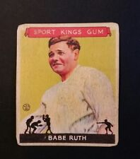 1933 Goudey Sport Kings #2 Babe Ruth Aged Reprint . SALE! BUY 5 CARDS GET 2 FREE