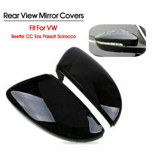 Pair LH&RH Rear View Mirror Cover Cap for VW Passat Jetta Beetle SCIROCCO 09-17