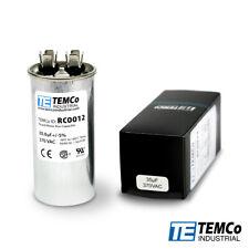TEMCo 35 uf/MFD 370 VAC volts Round Run Capacitor 50/60 Hz -Lot-1