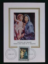 VATICAN MK 1971 MADONNA & JESUS CHRISTUS MAXIMUMKARTE MAXIMUM CARD MC CM c6306