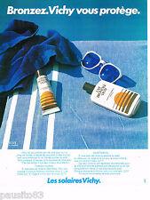 PUBLICITE ADVERTISING 065  1980   VICHY   les cremes solaires