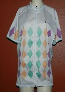 Woman's Ideal Cycling Jersey Short Sleeve Full Zipper Size 3XL