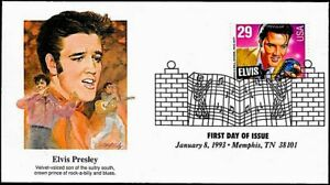 1993 ELVIS PRESLEY STAMP: First Day of Issue Fleetwood Cover, #2721 Rock-a-billy
