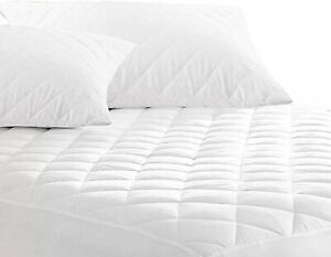 Quilted Mattress Protector Extra Deep 100% Cotton Single Double King Super Size