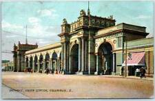 "Columbus, Ohio Postcard ""Entrance, Union Station"" Street View Rotograph 1907"