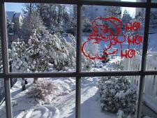 Christmas Santa HOHOHO window love Wall Stickers Art Room Removable Decals DIY