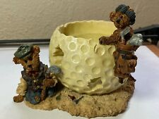 Boyds Bears And Friends Sebastian And Nicholas-The Lost Ball Candle Holder Golf