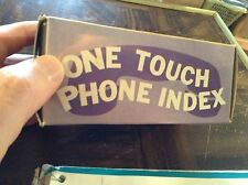 Vintage One touch phone index