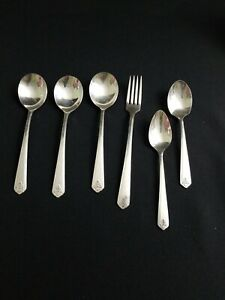 Lot Vtg 1881 Rogers Bros AA Heavy Oneida Flatware Silverplate lot of 6