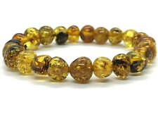 AMBER BRACELET Natural BALTIC AMBER Yellow Honey Beads Glossy Jewelry 10g 10973
