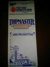 1982 WORLD'S FAIR KNOXVILLE TENNESSEE TRIPMASTER INSURANCE BROCHURE