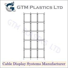 Cable Window Estate Agent Display - 3x5 A4 Portrait - Suspended Wire Systems