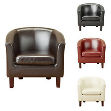 Attractive Luxury Bonded Leather Tub Chair Armchair For Dining Living Room Office  Reception