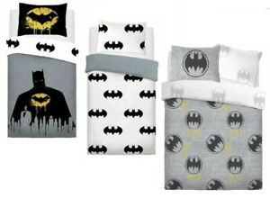 BATMAN DUVET COVER SET 2 IN 1 SINGLE DARK KNIGHT KIDS BEDDING CHILDREN'S GIFT