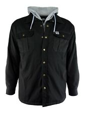Canvas Hooded Work Jacket Black, Brown or Gray Men's M-3XL by Buffalo Outdoors