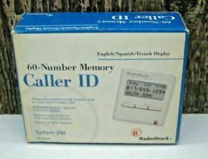 Radio Shack Caller ID 60 Number Memory System 240