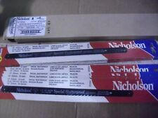 """ONE Hundred Nicholson 10"""" x 32 Tooth Hacksaw Blades # 63232 Made In USA"""