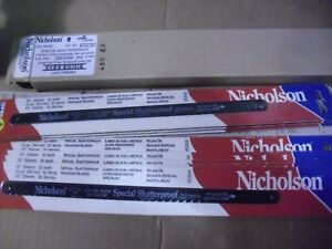 "ONE Hundred  !! Nicholson 10"" x 32 Tooth Hacksaw Blades # 63232 Made In USA"